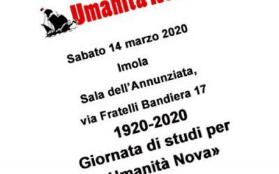 RINVIATO – Giornata di studi per «Umanità Nova»